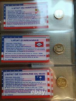 Collection complète des Quarter Dollars des États Américains MS63/UNC