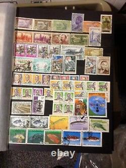 Collection complète mondiale de timbres neufs et oblitérés
