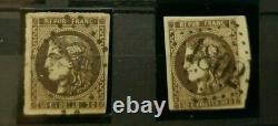 Collection des Cérès de Bordeaux, complet sauf reports I du 2c et 5c