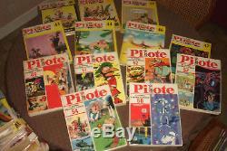 Collection quasi complète des recueils PILOTE n°1 à 71 (1959-1974)