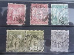 Collection sage complète oblitéré BE cote + de 2000 110 timbres