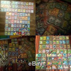 Collection set complet pokemon de base 400 TOPPS VINTAGE 1995 1998 2001 cartes