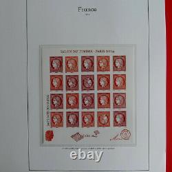 Collection timbres de France 2014-2016 neufs complet en album Yvert, SUP