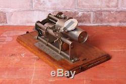 Columbia B Phonographe de 1900 pour 2 Minutes Walzen Rareté Complète Fonction