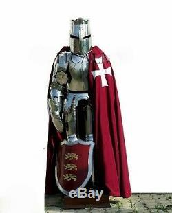 Costume d'armure de Templier médiéval de chevalier Costume complet d'armure de
