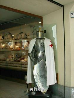 Costume d'armure de chevalier templier combat croisé costume d'armure complète