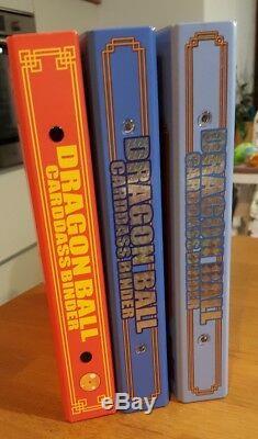 DRAGON BALL Lot De 3 Classeur carddass Binder + complete box vol 1 + 33-34 37-38