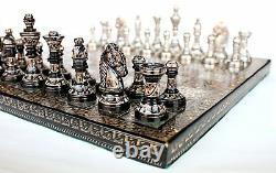 De Collection Complet Laiton Échecs Set 14 Main Sculpté Avec 100%