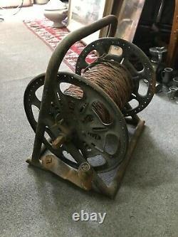 Dérouleur de cable téléphonique Allemand WW2 Complet & fil d'origine Berlin 1939