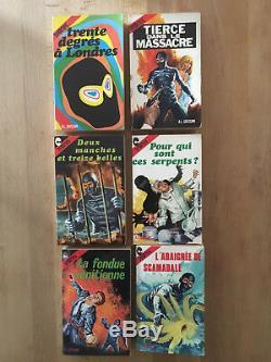 Diabolik Collection complète des 10 romans 1968-70 TBE