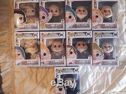 Disney Pop Collection Complete De 9 Figurine Blanche Neige Et Les 7 Nain Neuf