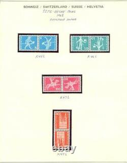 EDW1949SELL Suisse Complet Collection Principalement VF Mint De Tete-Beche