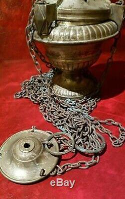 Encensoir complet datant de la XIXeme siècle de style Louis XVI en métal nickelé