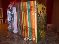 Eo 1966-1975 Collection Complete Des Albums De Tintin Serie B 22 Albums Herge