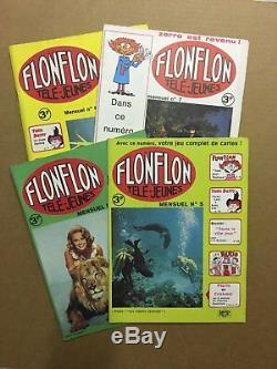 FLON FLON Collection complète des 8 numéros parus 1970 NEUFS