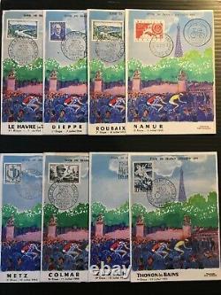 FRANCE Série COMPLETE de 23 cartes'Tour de France Cycliste 1955' Van Dongen