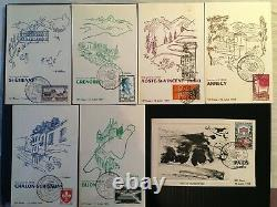 FRANCE Série COMPLETE de 23 cartes'Tour de France Cycliste 1959' Dali