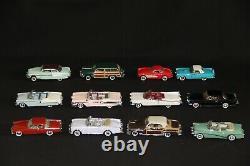 FRANKLIN voitures classique des années 50 collection complète avec étagère 143