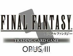 Final Fantasy TCG Lot des Opus 1 à 4 COMPLET FR Aucun double