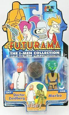 Futurama Toynami The I-Men Collection set complet de 10 figurines