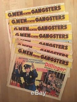 G. Men contre gangsters Collection complète des 14 numéros 1947 TBE
