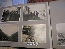 Gros album complet de photographies voyage en Amérique du Sud 1922 (trains)