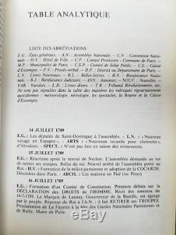 HISTOIRE REVOLUTION Journal de Paris, de 1789 à 1800 Complet en 6 tomes- 4637