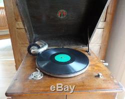 HYMNOPHON gramophone puissant de qualité, ancien Complet. Totalement fonctionnel