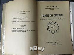 H. Mellin Secret des Couleurs, métaux, parfums 3 tomes très rare complet