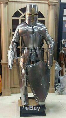 Halloween Knight Médiévale Suit de Armor Templier Combat Complet Corps Design