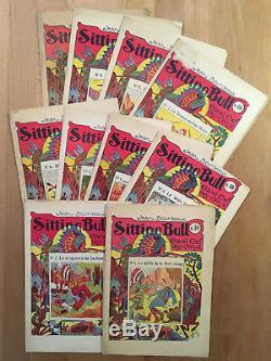 Jean Bourdeaux Sitting Bull Collection complète des 10 fascicules 1927 BE