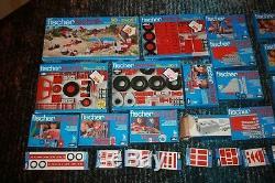Jeux de construction FischerTechnik collection toutes boites 1976 completes