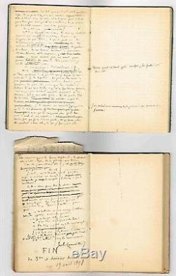 Jules Lemaitre Rare Manuscrit Complet De Premier Jet De Sa Piece Mariage Blanc