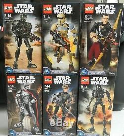 LEGO Star Wars Collection complete de 29 buildable figures neuves 75107-75537