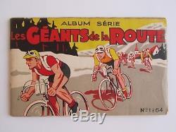 LES GÉANTS DE LA ROUTE = Album GLOBO CHROMOS CYCLISME complet N° 1 à 64