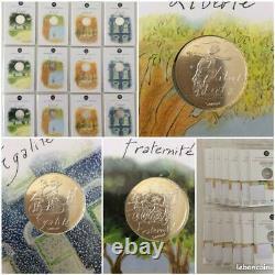LOT Complet DES 12 PIECES DE 10 EUROS EN ARGENT COLLECTION VALEURS DE LA REPUBLI