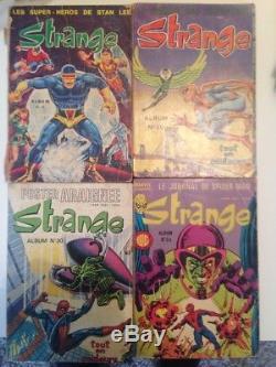 LOT EXCEPTIONNEL de 53 BD STRANGE Marvel + 4 Albums Relies STRANGE 13 20 30 54