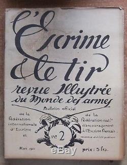 L'escrime Et Le Tir / Revue Illustree Du Monde Des Armes Coll. Quasi-complete