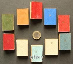 Livres Minuscules Miniature Books Collection de 10 vol. Pairault 1896 COMPLET