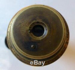 Longue vue de marine ancienne télescopique en laiton complète Long 90 cm