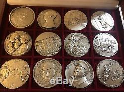 Lot De 24 Medailles Seconde Guerre Mondiale Collection Complète! Rare 1939 1945