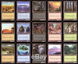 Lot de 15 terrains de base APAC 3 Packs Basic Lands Magic mtg Complete set