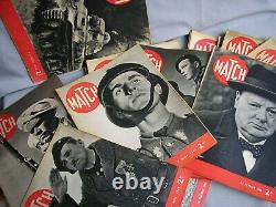 Lot de 38 revues Match série complète du 21.09.1939 au 6.06.1940 WW2