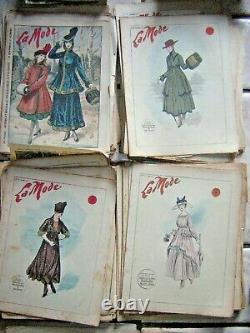 Lot de 52 revue la mode complète 1916 Du N° 2 au 53 collection première guerre