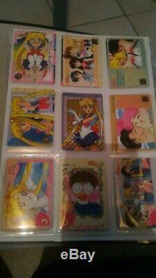 Lot de 96 cartes Carddass Revival Sailor Moon (Collection Complète)