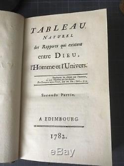 Louis Claude de Saint Martin Tableau Naturel 1782 Martinisme Complet des 2 vol