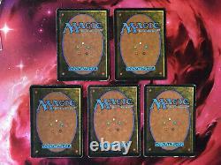 MAGIC MTG Legends Rare Set Complet des 5 Lands Légendaires! Legends VO
