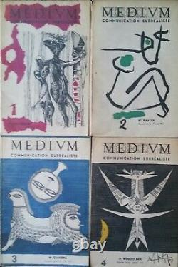 MEDIUM Collection complète de la nouvelle série en 4 numéros 1953/1955 Rare