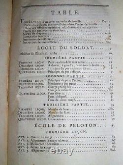 MILITARIA Ecoles du soldat et de peloton 10 PLANCHES Dépliantes COMPLET 1800