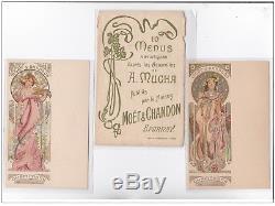 MUCHA Aphonse série complète de 10 menus format carte postale -65453